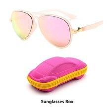 Moda crianças uv400 óculos de sol crianças legal óculos de sol 100% proteção uv óculos de sol para viagens menino menina com caixa
