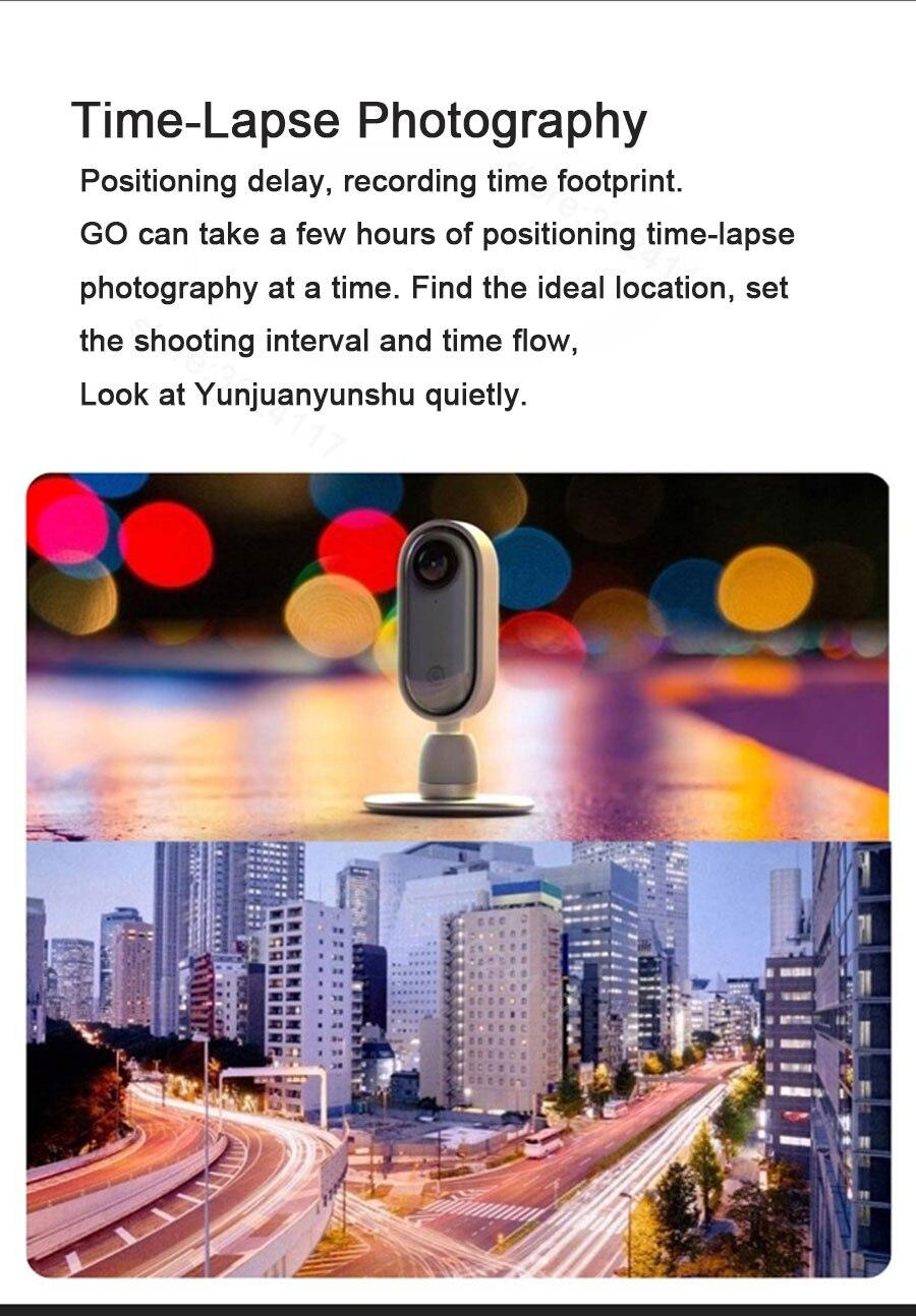 Youpin insta360 go polegar câmera anti-shake instalar