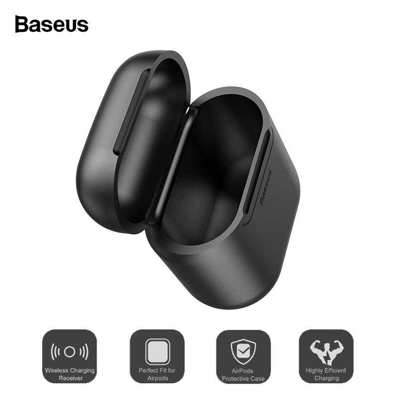 Baseus Luxury Wireless Charging Case For Airpods Accessories Silicone Protective Cover For Apple Airpod Air Pods Pod Coque Funda