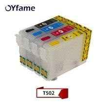OYfame 502 T502XL cartouches d'encre Avec puce ARC 502 502XL recharge de Cartouche d'encre Pour Epson XP-5100 XP-5105 WF-2865 WF-2860 Imprimante