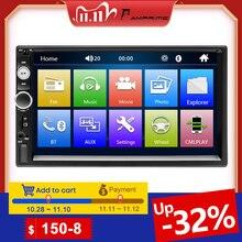 "AMPrime Autoradio 2 Din Auto Radio 7 ""Touchscreen MP5 Bluetooth USB Auto Digitale 2Din Multimedia Player Unterstützt Hinten view Kamera"