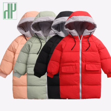 -20 Baby Girls jackets Winter Warm Down Jackets Kids Thick Outerwear Children Clothing Autumn Baby boys jacket Hooded coat children autumn and winter warm clothes boys and girls thick cashmere sweaters