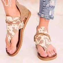 Summer Women Printed Zipper Flip Flops Ladies Fashion Clip-Toe Shoes Feamel Beach Flats Sandals sandales femmes été nouveau 2021