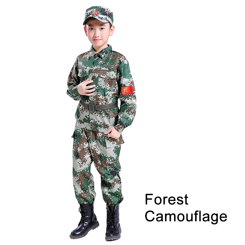 Children Camouflage Tactical Uniforms Hunting Set Men Military Clothing Combat Jackets Pants Kids Army Clothes Cosplay Costumes - Цвет: Style8