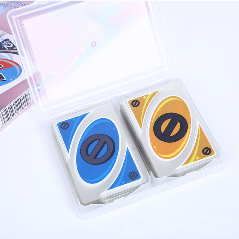 2019 New Crystal waterproof and pressure-proof plastic Transparent PVC playing cards Board game card 108 cards with a box