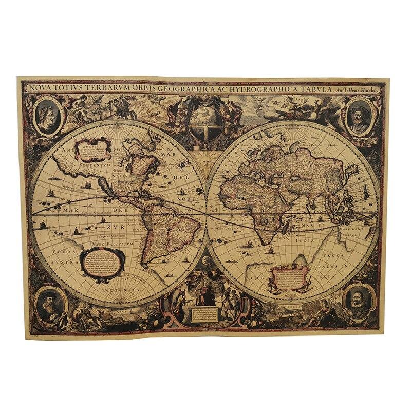 1 шт., английский плакат, винтажное стилистическое украшение, атлас, география, научная фантастика, Студенческая карта, сокровище, фильм