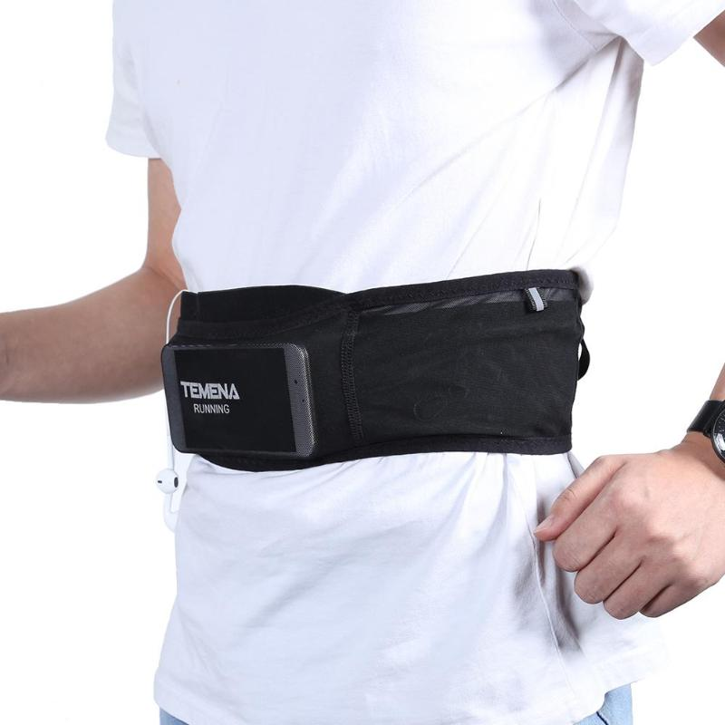 Professional Running Waist Pouch Belt Sport Belt Mobile Outdoor Sport Ultra-thin Waist Bag Marathon Anti-theft Phone Pack