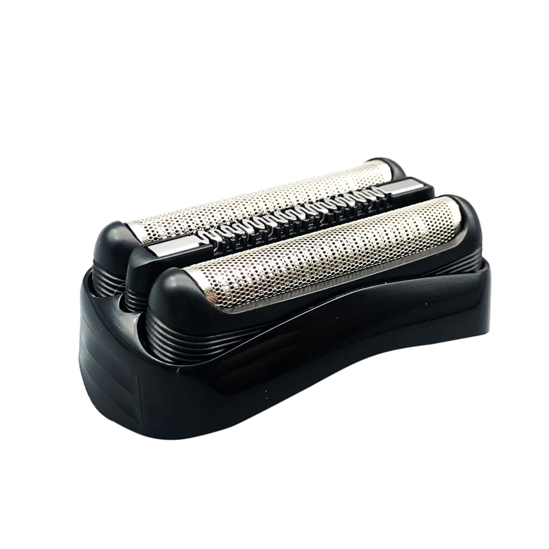 Male Shaver Replacement Blade Foil Head Black Razor Head Foil Beard Cleaning Accessories, For Braun Series 3 21B 3090Cc 3050Cc 3