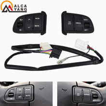 Botão volante para kia sportager, volante, áudio, canais de áudio, velocidade constante, controle de cruzeiro, interruptor de volume