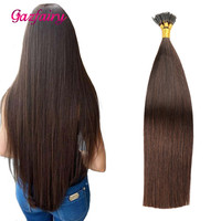 Gazfairy 18 Inch 1g/strand 50g 100g I Tip Human Hair Extensions Fusion Keratin Bond Natural Color Straight Remy Pre Bonded Hair
