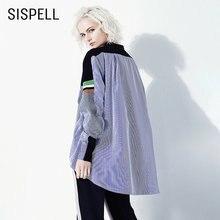 Женская блузка в полоску sispell Повседневная рубашка контрастных