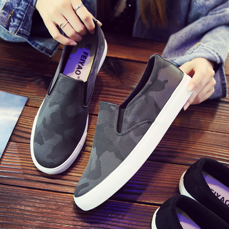 2019 Men's Fashion Casual Shoes Male Comfortable Canvas Pedaling Shoes Summer Light Wear-resistant Solid Shoes For Men U2-64