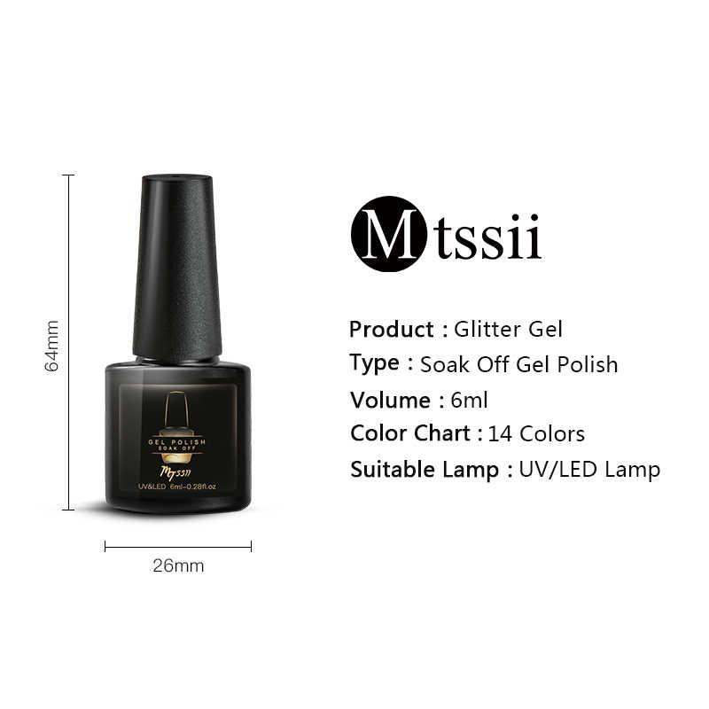 Mtssii Scintillio Del Gel Del Chiodo Si Impregna fuori Manicure Vernis Semi Permanant UV Opaco Top Coat Base Unghie artistiche Unghie Gel Per Unghie lacca