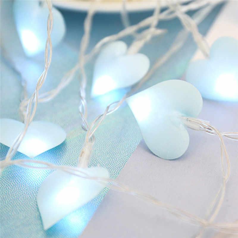 3/1. 5M 20/10LED amor corazón romántico luces de cadena LED para la fiesta de la guirnalda de San Valentín propuesta de boda decoración de la luz de hadas