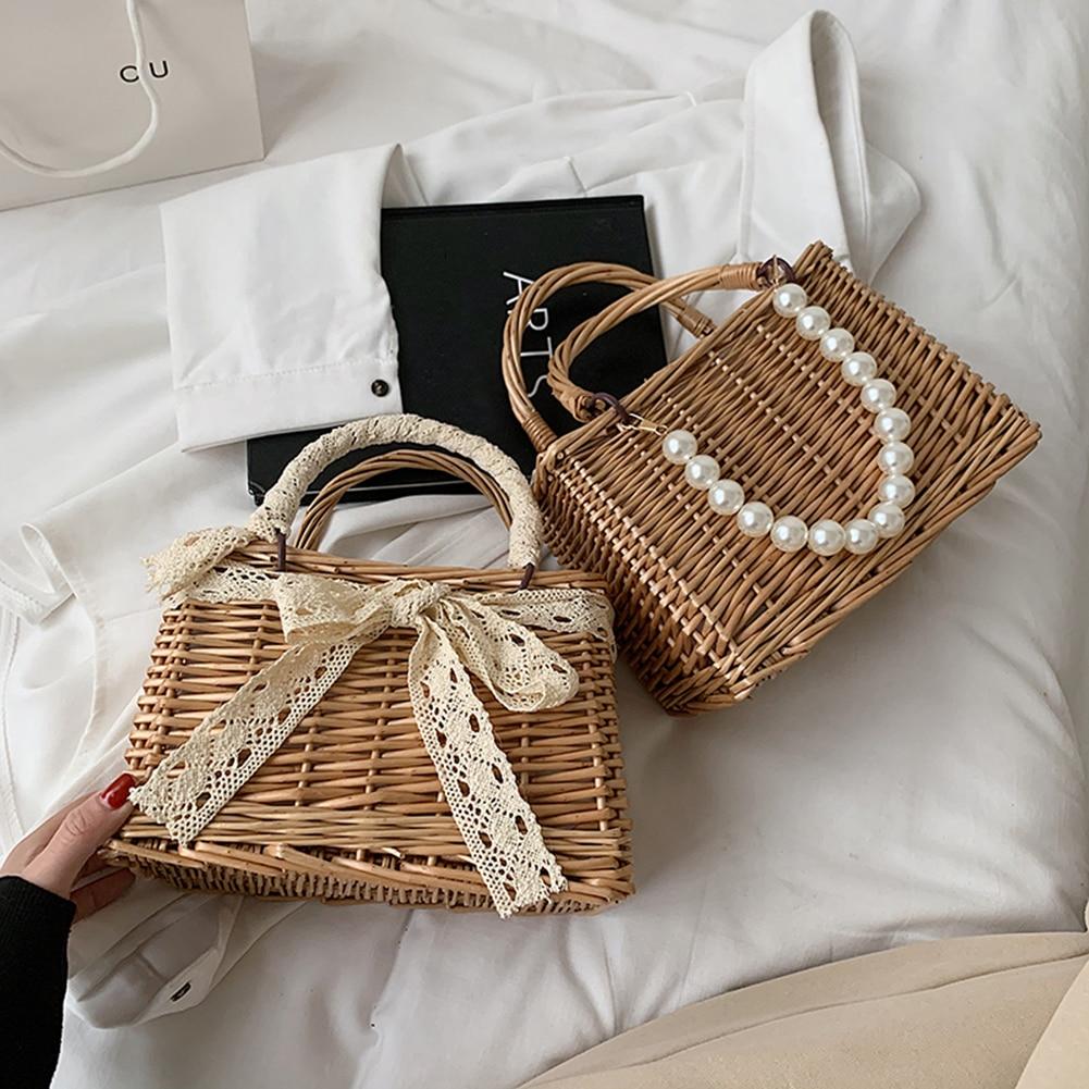 Fashion Straw Bucket Bag for Women 2021