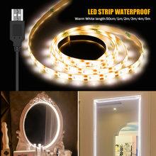 Usb светодиодный светильник для зеркала макияжа 5 В водонепроницаемая