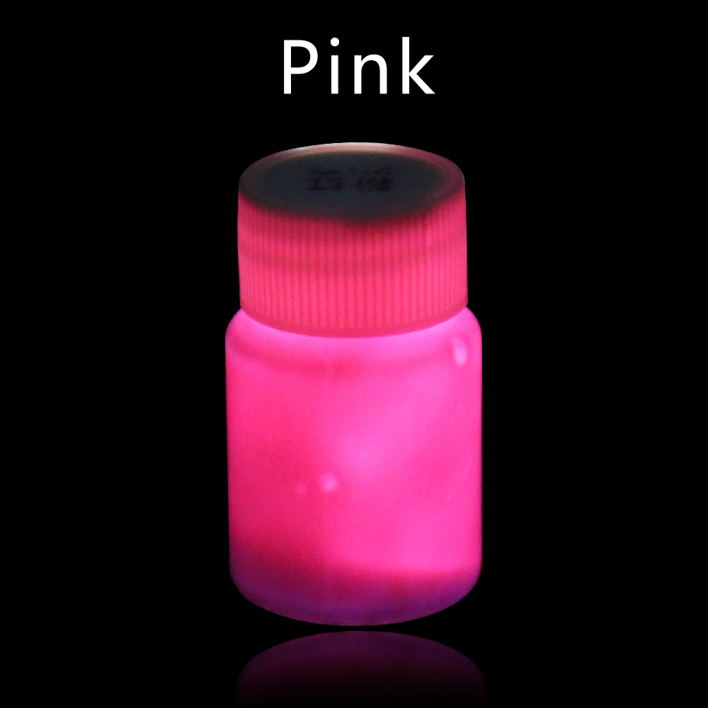 Luminous Varnish Coloring Glow In The Dark Paint 20g Pink Acrylic Paint For Party Decoration Art Supplies Phosphor Pigment