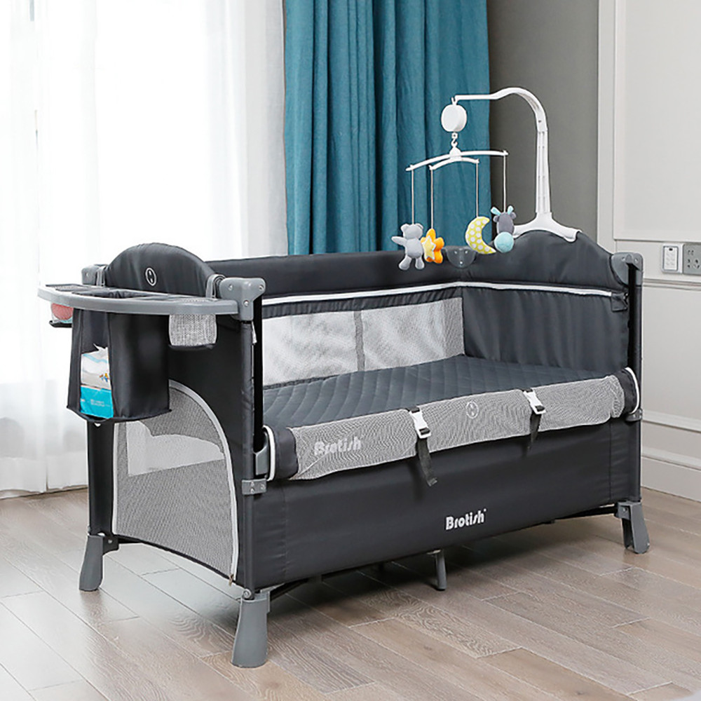 Baby Bed Splicing Large Newborn Multifunctional Stitching Bed Fashion Portable Game BB Baby Child Crib Cradle Bed