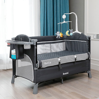 Baby Bed Splicing Large Newborn Multifunctional Stitching Bed Fashion Portable Game BB Baby Child Crib Cradle Bed luxury pine solid wood logs baby crib adjustable 3 in 1 stitching multifunctional storage cradle baby bed with guardrail for kid