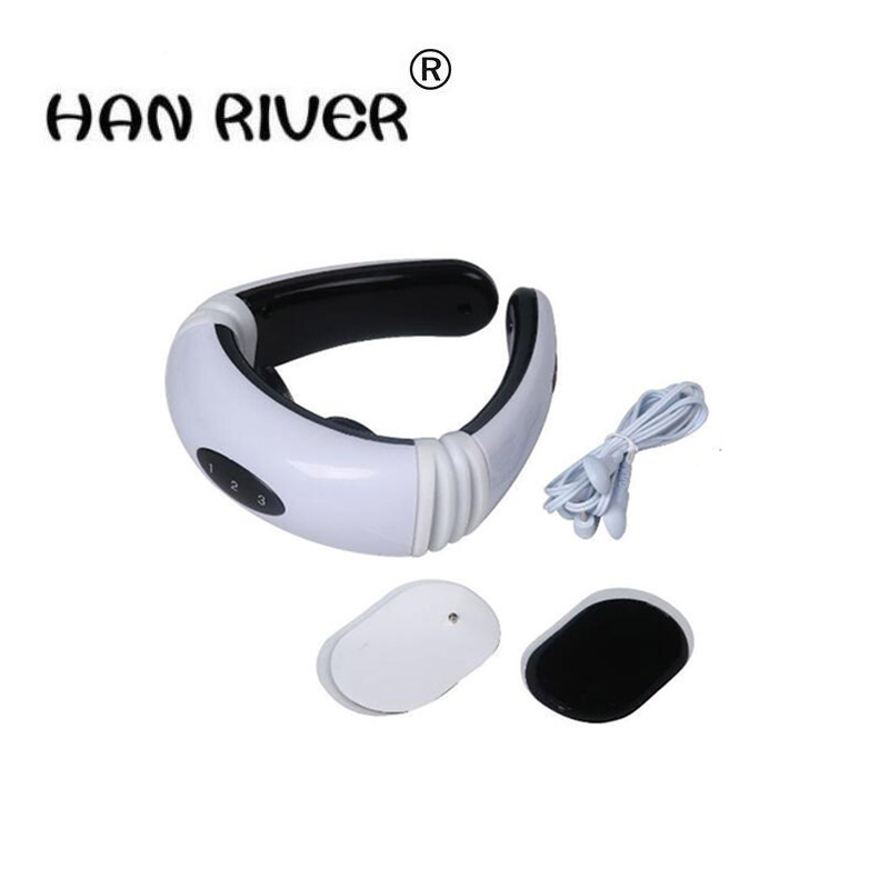 Multi-functional intelligent cervical fields electric massager massage instrument intelligent neck therapy apparatus