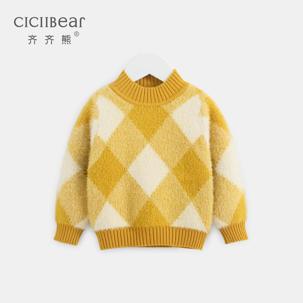 Ciciibear 1-4Y Baby Sweater Baby Boy Clothes Turtleneck Kids Boys Sweaters  Baby Girl Clothes Soft Warm Long Sleeve