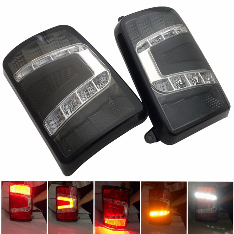 Marlaa Pair LED Tail Lights for Lada Niva 4x4 1995 Rear Turn Signal Car Styling Accessories Tail Turn Signal lamp Taillights