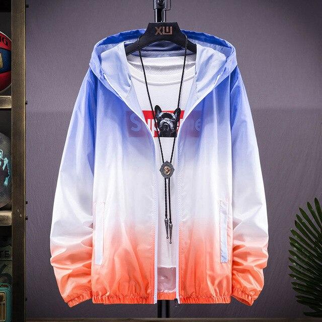 Plus Size 6XL 7XL New Spring Summer Bomber Jacket Men Women Casual Solid Windbreaker Zipper Thin Hooded Coat Outwear Male Jacket 4
