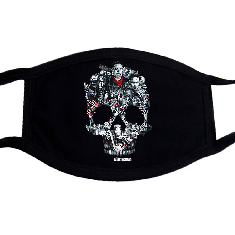 Cartoon Black Streetwear Skull Mask Tokyo Ghoul Cosplay Anime Masks Keep Warm Mouth Muffle Respirator Dust Face Mouth Masks Kpop