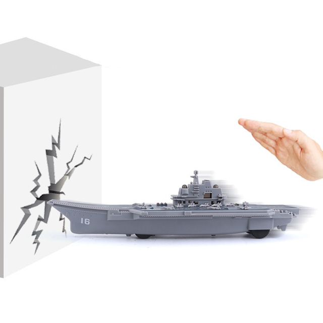 Electric Plastic Mini Aircraft Carrier Children Toy Model Birthday Gifts w/Light 4