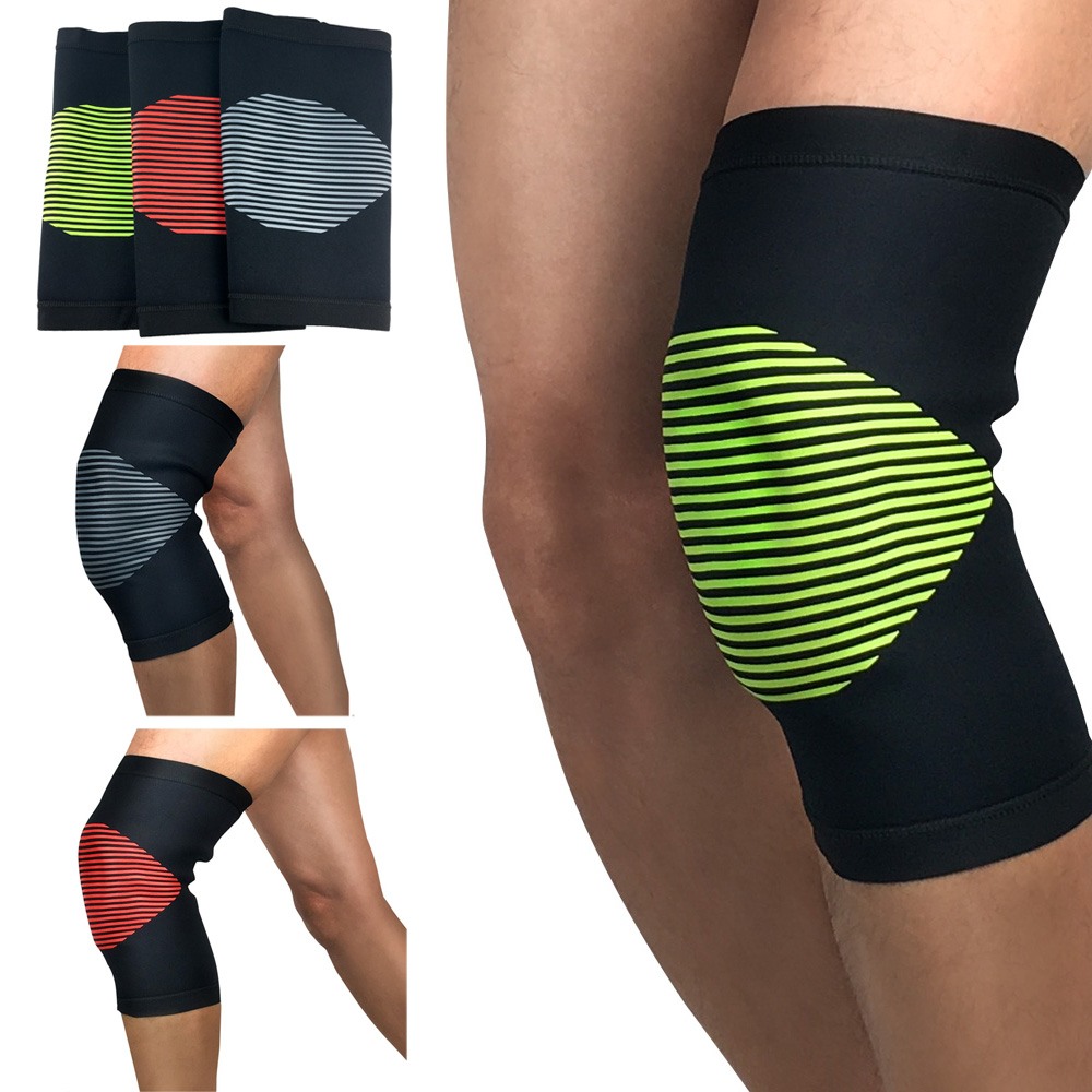 Protection Knee Pads Knee Sleeve Striped Knee Warmer Supports Fitness Running