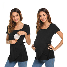 Women Pregnancy Clothes Maternity Clothing Breastfeeding Tee Maternity Breastfeeding Clothes Nursing Tops Short Sleeve T-shirt цена и фото