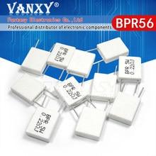 100pcs BPR56 5W 0.1 0.15 0.22 0.25 0.33 0.5 ohm Não-indutivo Resistor Cimento Cerâmica 0.1R 0.15R 0.22R 0.25R 0.33R 0.5R