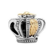 1 шт. новый милый кулон в виде короны DIY бусины подходят для оригинального браслета Pandora очаровательные женские ювелирные изделия подарки