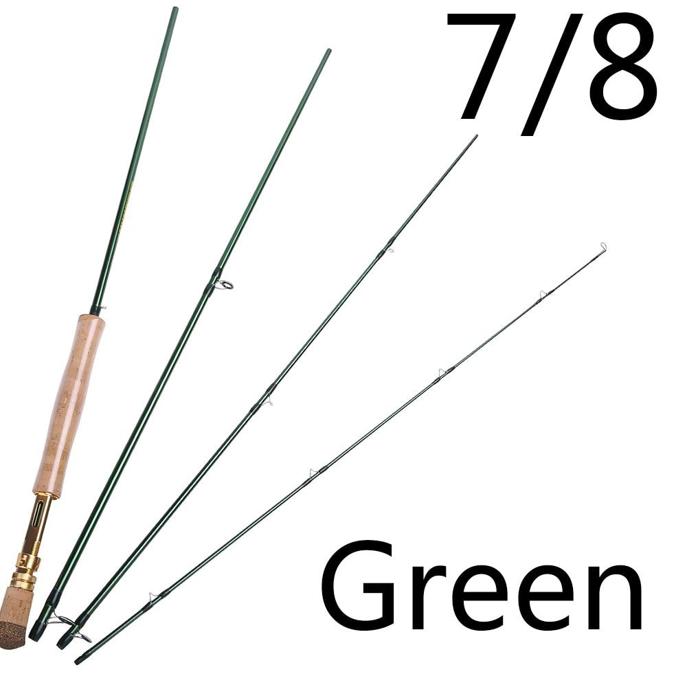 Varilla de pesca con mosca Sougayilang 2,7 m Combo peso ligero Barra de mosca verde negra portátil y aleación de aluminio mecanizada por CNC vuela carrete Kit - 3