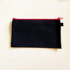 Image 5 - 10 sztuk puste płótno Zipper piórniki Pen woreczki bawełniane torby kosmetyczne torebki na makijaż telefon komórkowy kopertówka z organizerem