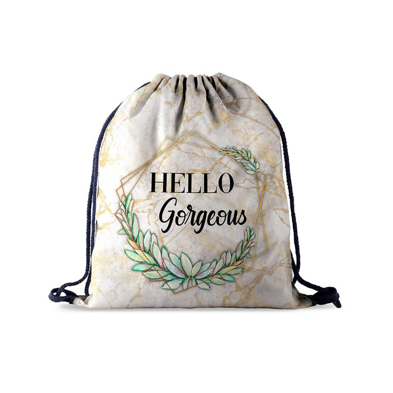 Drawstring Bag Library Swimming Gym Backpack Unisex Travel Sports Daypack