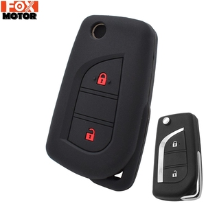For Toyota Yaris Aygo For Peugeot 108 For Citroen C1 Silicone Remote Key Case Fob Shell Cover Skin Jacket Sleeve
