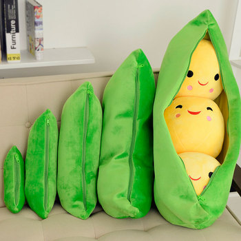 Creative Cute Toys Doll For Children 3 Peas In A Pod Plush Toy Soft Throw Pillow Stuffed Pea Pod Toy Kids Birthday Xmas Gift 25cm cute kids baby plush toy pea stuffed plant doll kawaii for children boys girls gift high quality pea shaped pillow toy 138