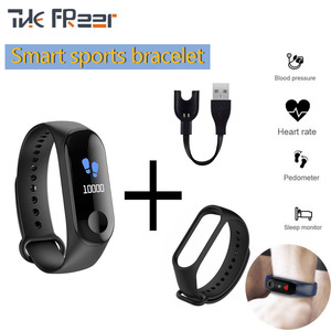 M3 Smart Watch 2020 For Men Bracelet Color Screen Fitness Tracker Pedometer Heart Rate Blood Pressure Monitoring Digital Watches(China)