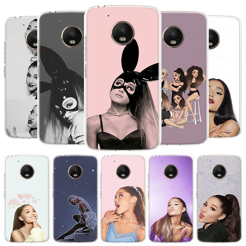 Ariana Grande Cover Phone Case For Motorola Moto G8 G7 G6 G5S G5 E4 Plus G4 E5 E6 Play Power One Action EU Gift Shell