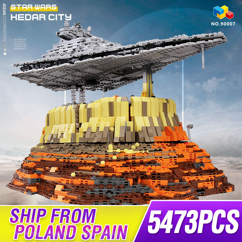 MOC Ultimate Millennium Stars Plan Series Falcon Empire Over Jedha City Model Building Blocks Set Star Ship Bricks Toys image
