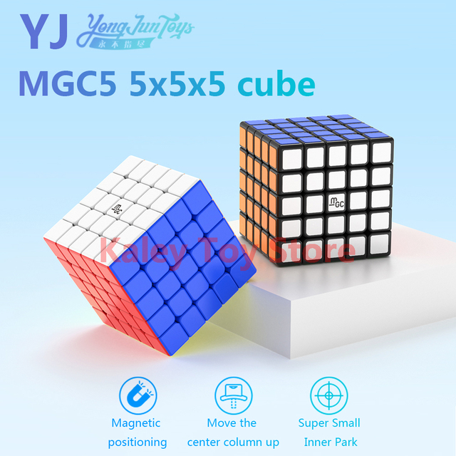 Yongjun MGC 5 5x5x5 Magic Magnetic Cube YJ MGC5 5×5 Magnets Speed Cubes Professional Stickerless Puzzle Cube