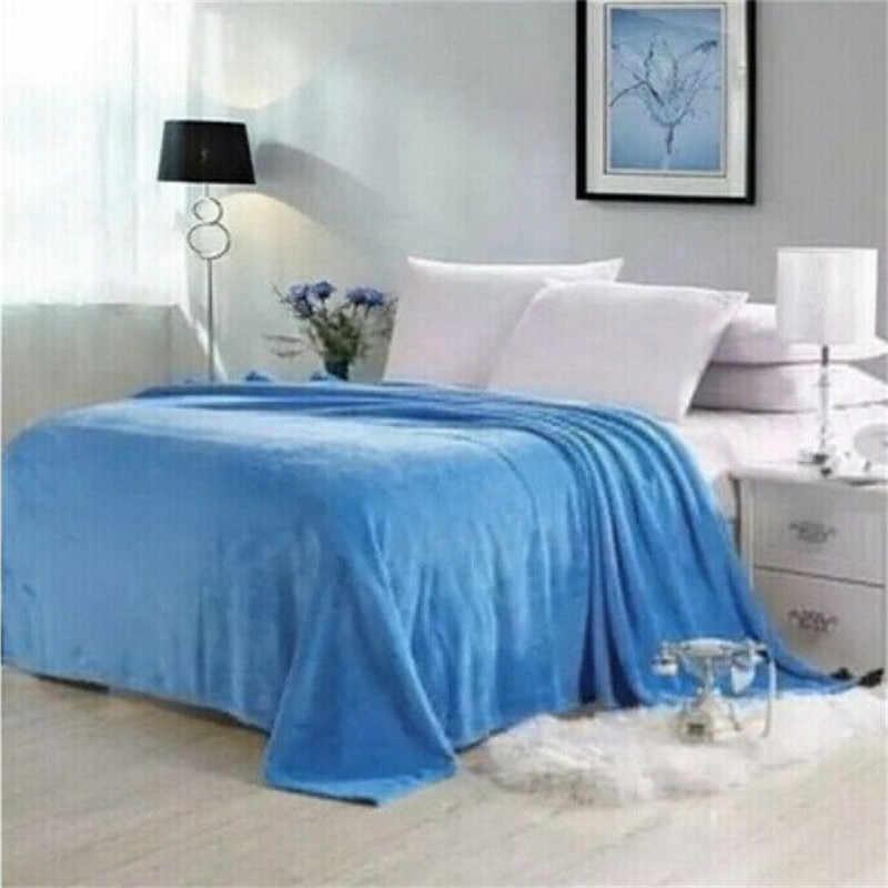 الولايات المتحدة دافئ فائق النعومة الصلبة الدافئة مايكرو أفخم الصوف بطانية رمي أريكة بطانية للأطفال