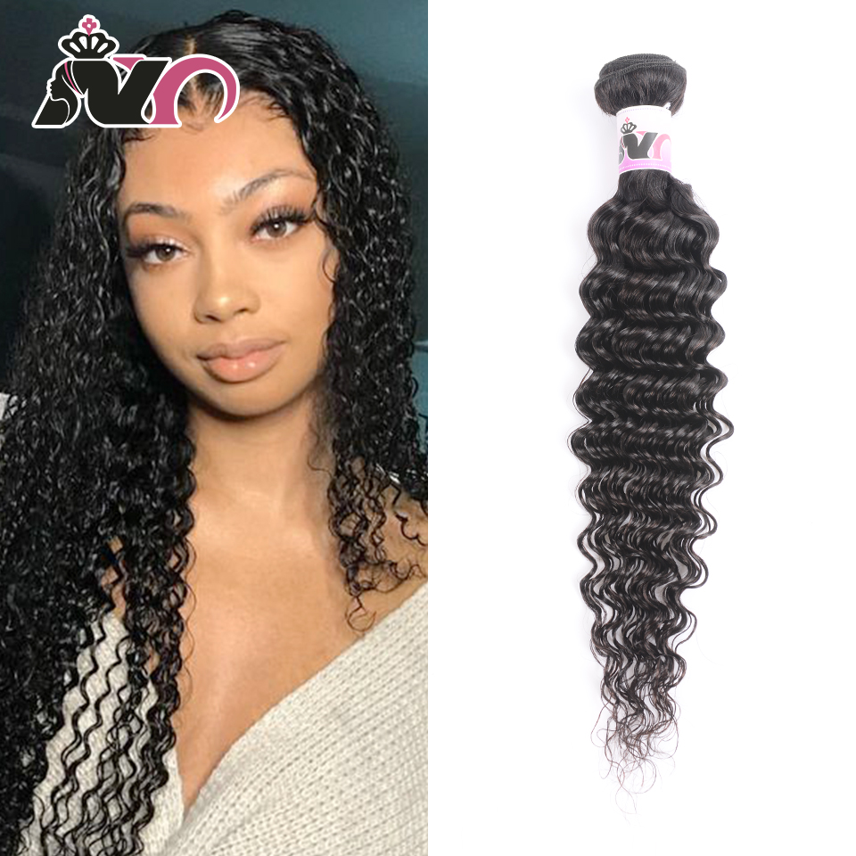 NY Hair Deep Wave Bundles Brazilian Hair Weave Bundles New Human Hair Bundles Natural Color Non Remy Hair Weave Hair Extension