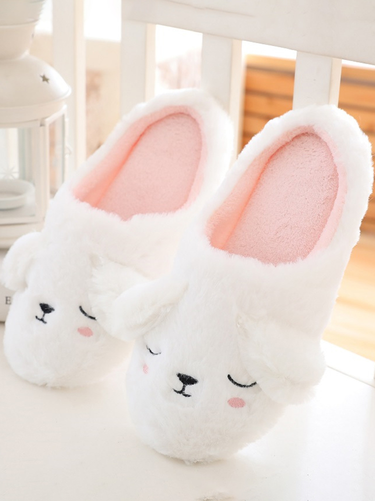 Color Plush Slippers Women Home Floor Cotton Slippers Warm Autumn Winter Ladies Slippers for Home Casual Indoor Shoes VT1304 (11)
