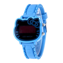 Children's gift cute cartoon electronic watch safety material multi-color LED di