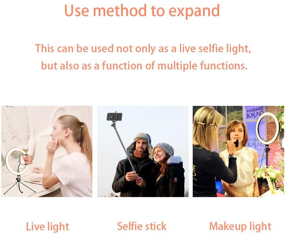 Светодиодный Кольцо света 150см селфи с селфи палку USB фотографические лампы с держателем телефона для макияжа заполняющего света видео Ютуб