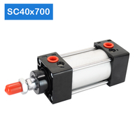 Wholesale ExporterSC40X700 Bore 40mm Stroke 700mm Aluminum air pistons cylinder pneumatic air cylinder force