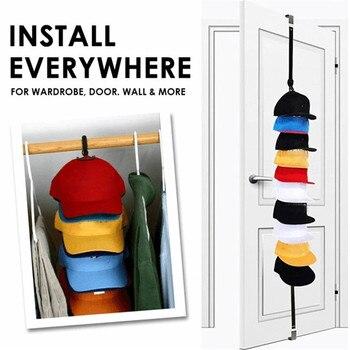 Регулируемая Вешалка для крышек, держатель для шляп, органайзер для шляп и одежды, дверной крючок для задней части шкафа, вешалка для домашнего хранения, экономия места