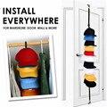 Регулируемая Вешалка для крышек, держатель для шляп, органайзер для шляп и одежды, дверной крючок для задней части шкафа, вешалка для домашн...